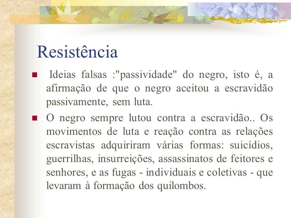 Resistência Ideias falsas :