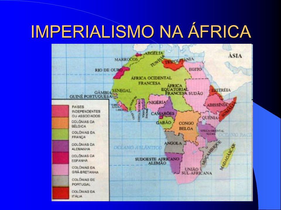 OUTROS PAÍSES EUROPEUS NA ÁFRICA Alemanha : Camerun (atual República dos Camarões),Togo, Sudoeste e Oriente da África; Itália : litoral da Líbia, Erit