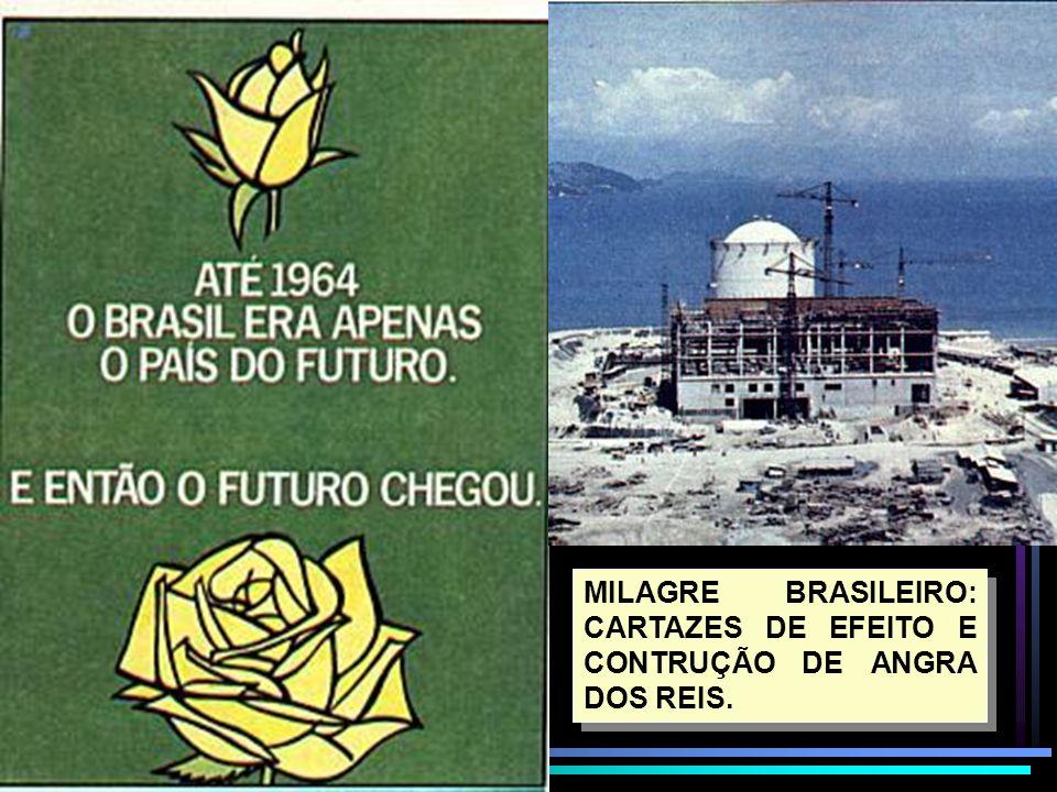 MILAGRE BRASILEIRO: CARTAZES DE EFEITO E CONTRUÇÃO DE ANGRA DOS REIS.