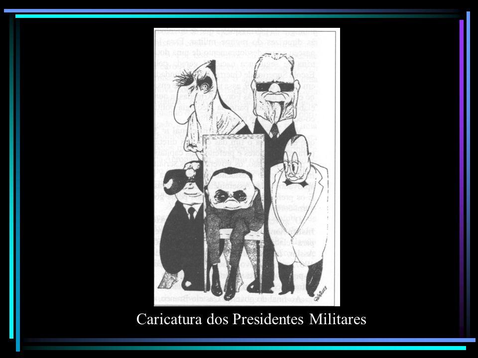 Caricatura dos Presidentes Militares
