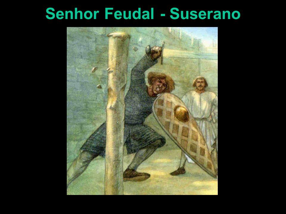A Sociedade Feudal: componentes econômicos e sociais. Nobres, Senhores Feudais A terra era a medida da riqueza, o senhor feudal era soberano de seu fe