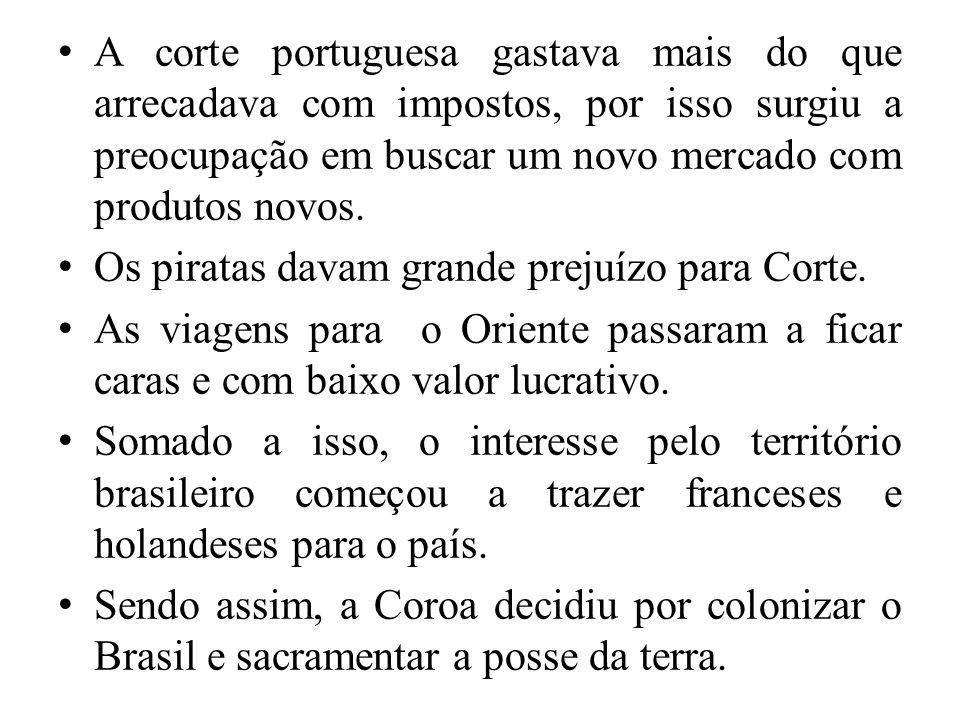 A corte portuguesa gastava mais do que arrecadava com impostos, por isso surgiu a preocupação em buscar um novo mercado com produtos novos. Os piratas