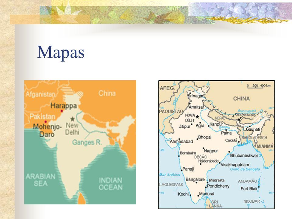 Cultura harapense Por volta de 2500 a C., enquanto os europeus viviam em pequenas aldeias na Índia já existia imensas cidades como Harapa e Mohenjo- Daro,entre 40 e 80 mil pessoas.