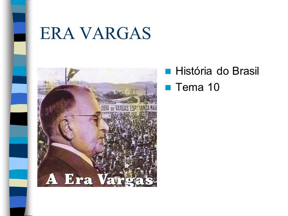 ERA VARGAS História do Brasil Tema 10
