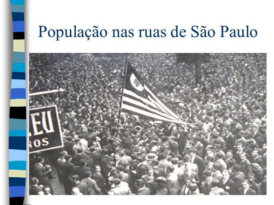 População nas ruas de São Paulo