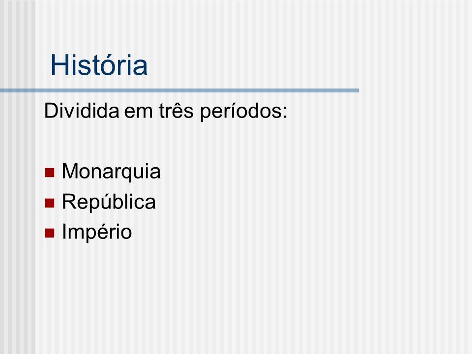 Monarquia Rei (executa as leis, pune crimes, comanda o exército).