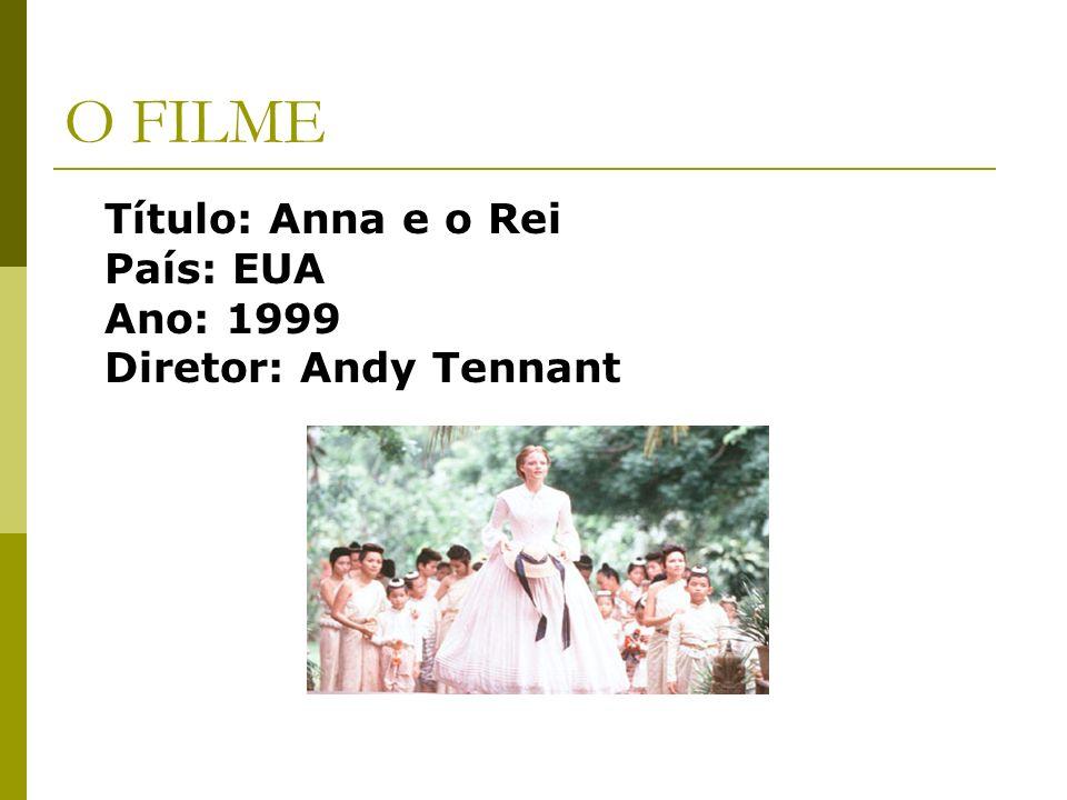 O FILME Título: Anna e o Rei País: EUA Ano: 1999 Diretor: Andy Tennant