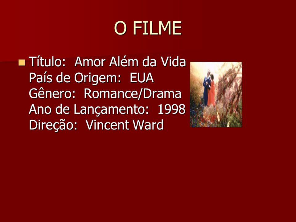 O FILME Título: Amor Além da Vida País de Origem: EUA Gênero: Romance/Drama Ano de Lançamento: 1998 Direção: Vincent Ward Título: Amor Além da Vida Pa