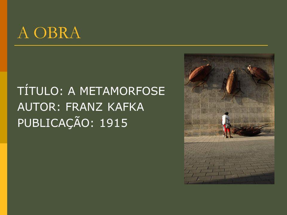 O AUTOR Franz Kafka( 1883 -1924): Foi um dos maiores escritores de ficção da Língua alemã do século XX.