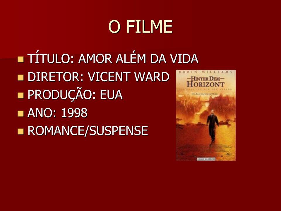 O FILME TÍTULO: AMOR ALÉM DA VIDA TÍTULO: AMOR ALÉM DA VIDA DIRETOR: VICENT WARD DIRETOR: VICENT WARD PRODUÇÃO: EUA PRODUÇÃO: EUA ANO: 1998 ANO: 1998