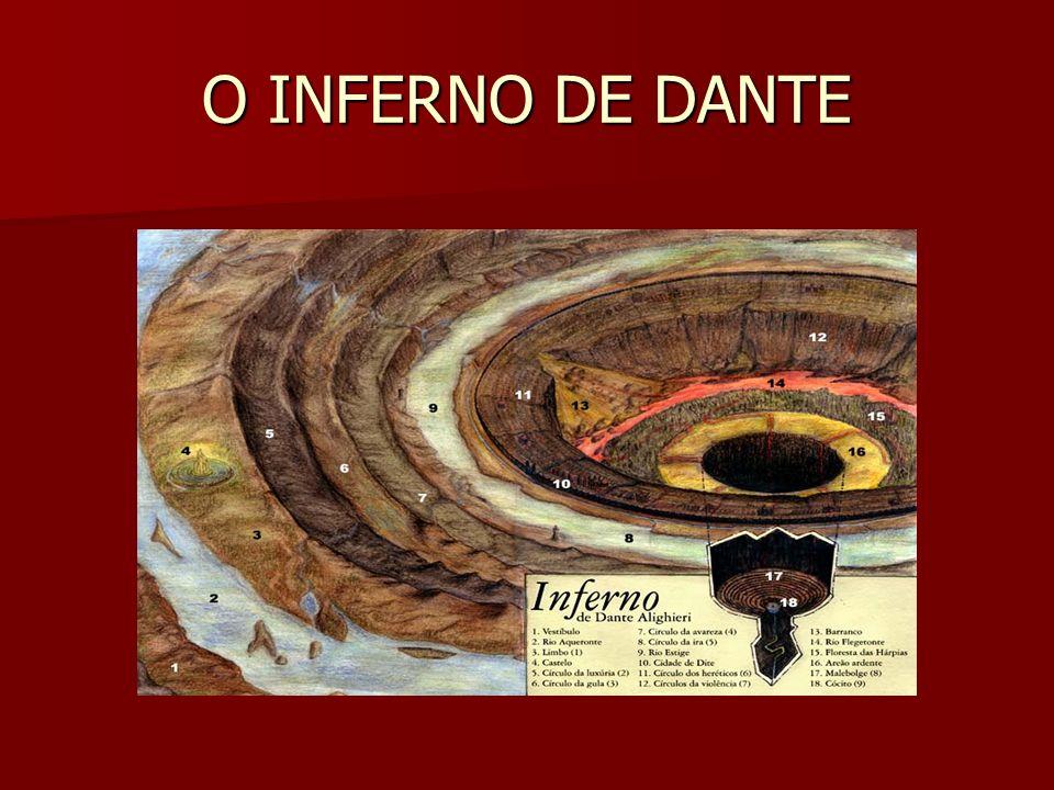 O REI DO INFERNO Lúcifer, no centro da Terra, mastigando pecadores.