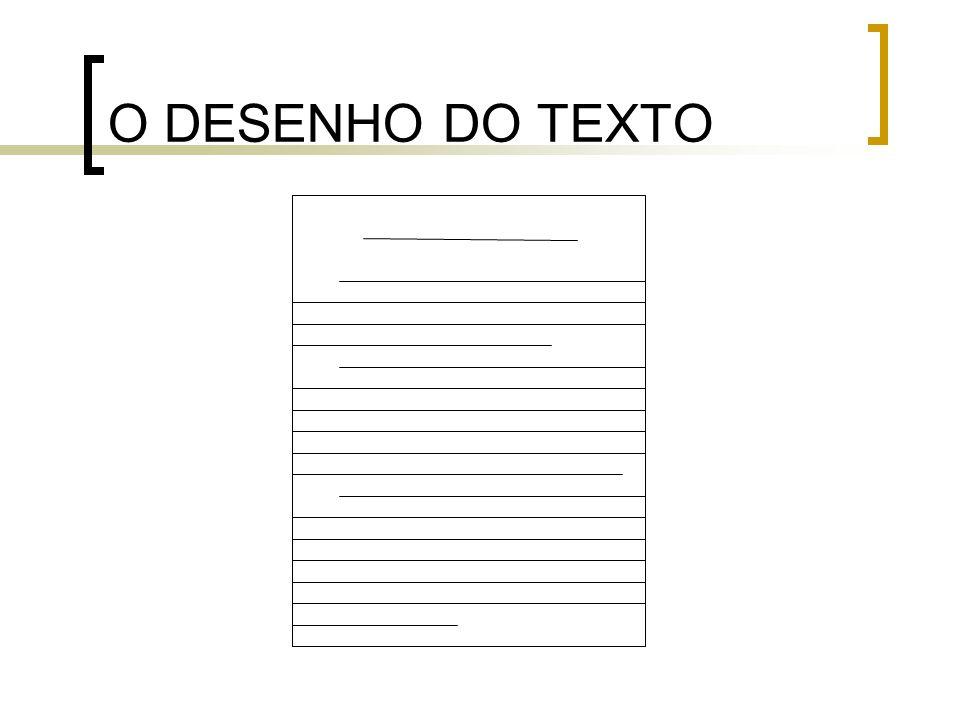 O DESENHO DO TEXTO