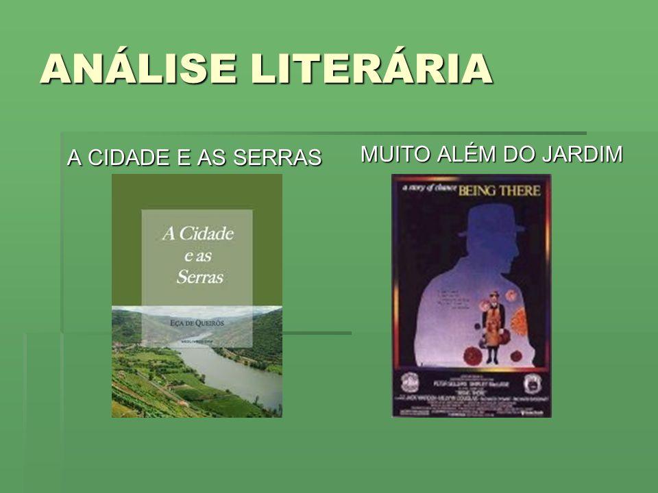 ANÁLISE LITERÁRIA A CIDADE E AS SERRAS MUITO ALÉM DO JARDIM