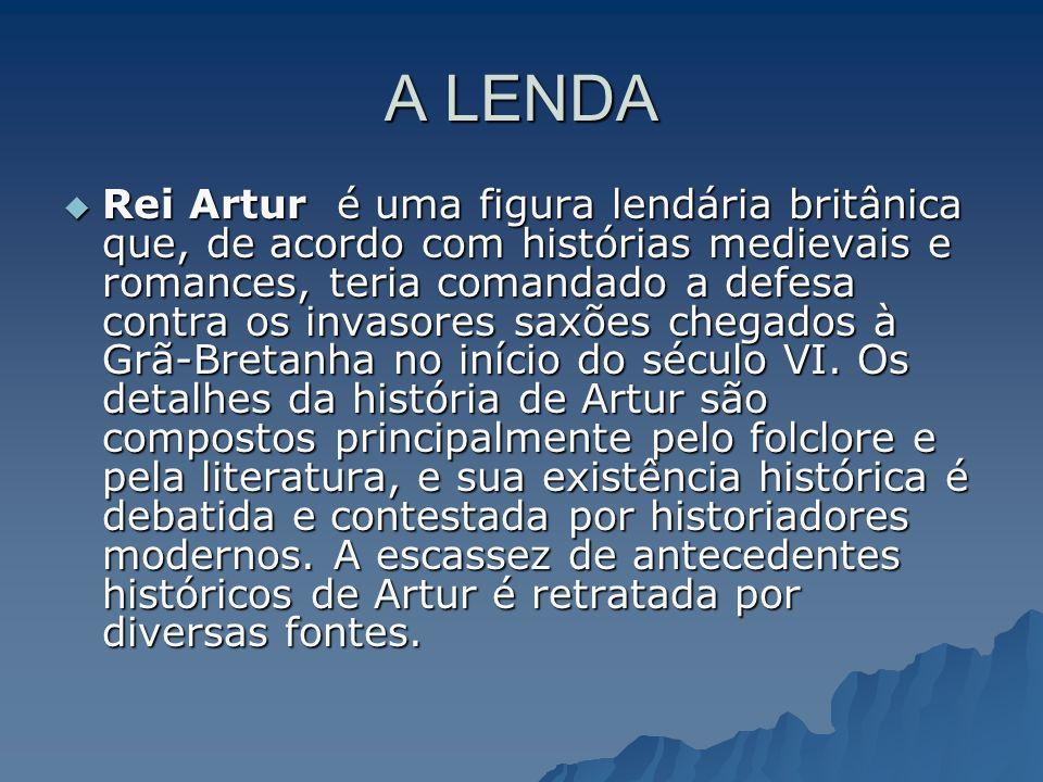 A LENDA Rei Artur é uma figura lendária britânica que, de acordo com histórias medievais e romances, teria comandado a defesa contra os invasores saxõ