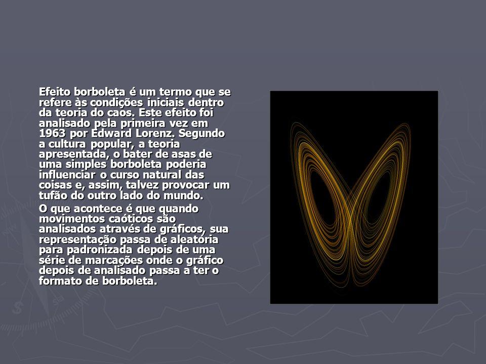 Efeito borboleta é um termo que se refere às condições iniciais dentro da teoria do caos. Este efeito foi analisado pela primeira vez em 1963 por Edwa