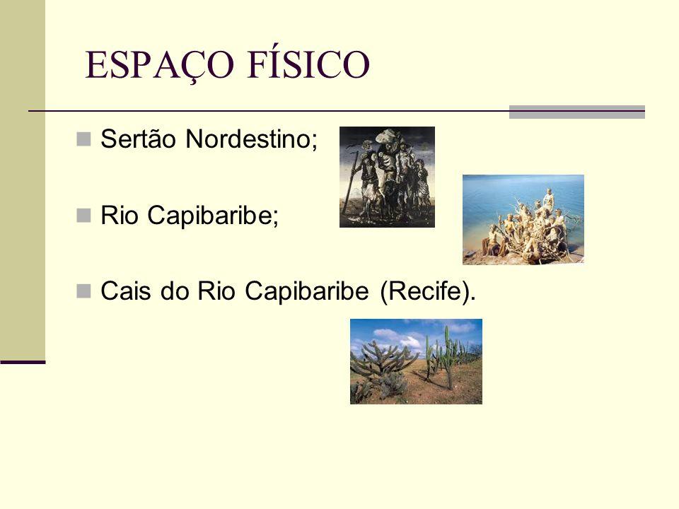ESPAÇO FÍSICO Sertão Nordestino; Rio Capibaribe; Cais do Rio Capibaribe (Recife).