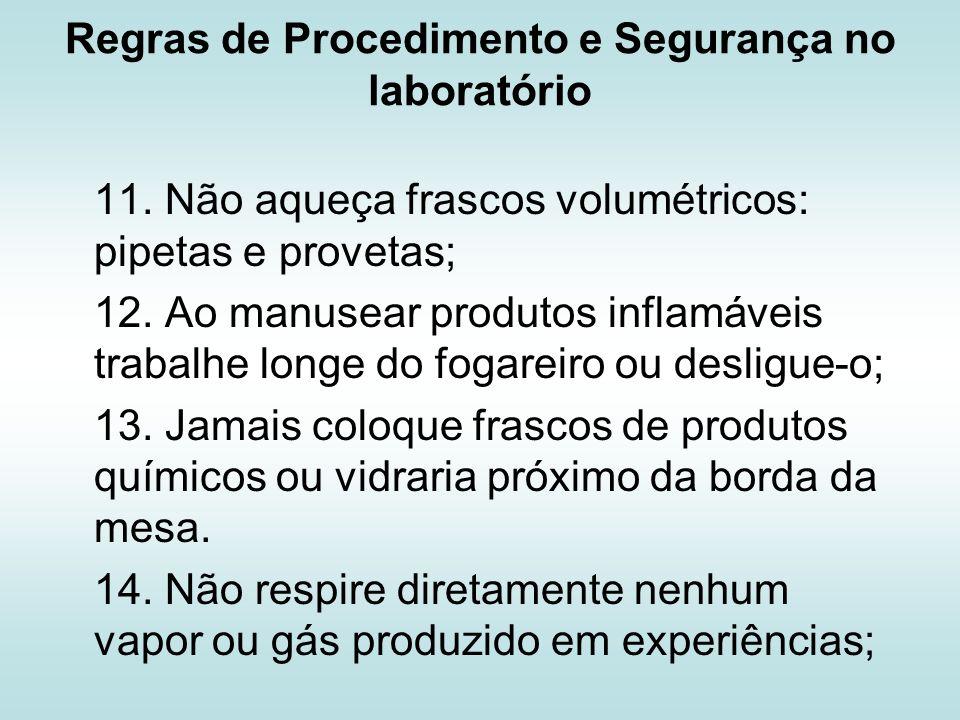 Regras de Procedimento e Segurança no laboratório 15.