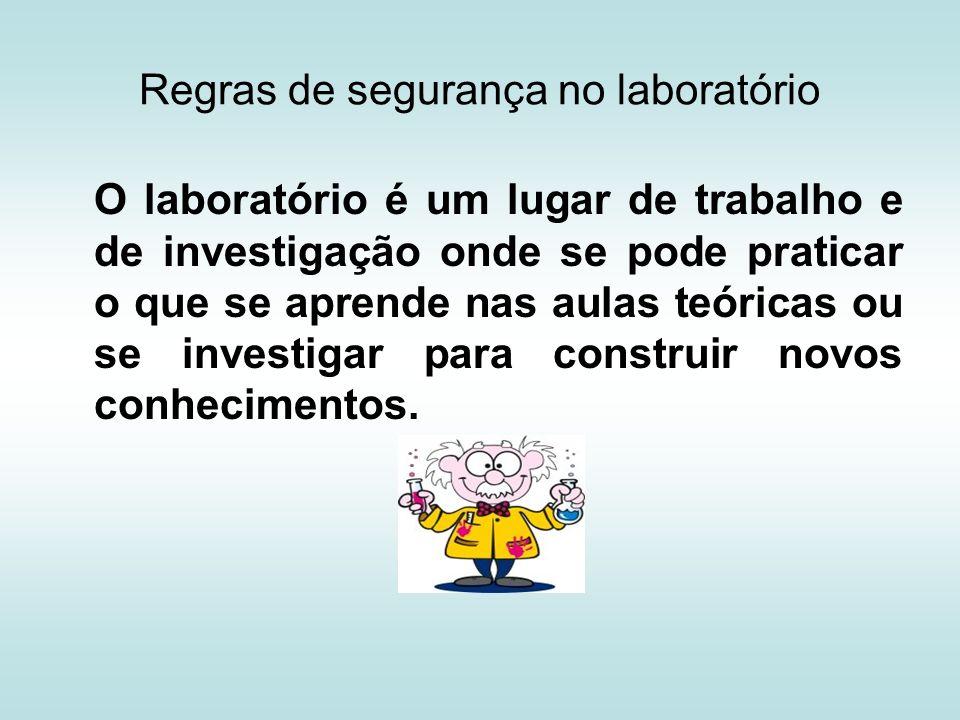 Regras de Procedimento e Segurança no laboratório 1.