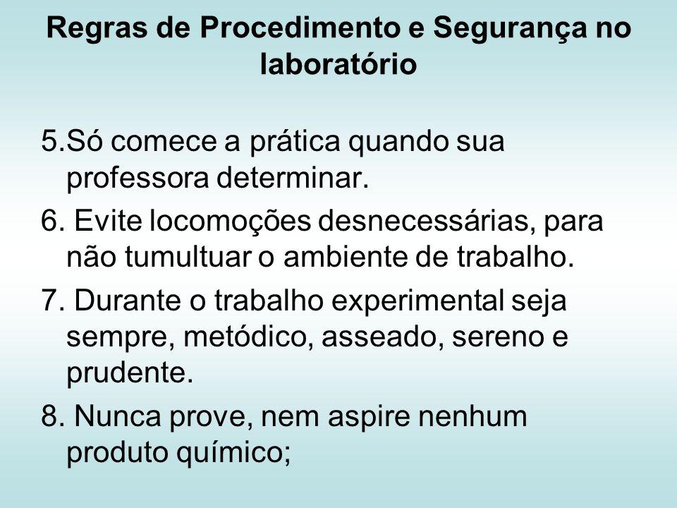 Regras de Procedimento e Segurança no laboratório 9.