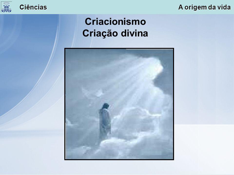 Criacionismo Criação divina Ciências A origem da vida Ciências A origem da vida