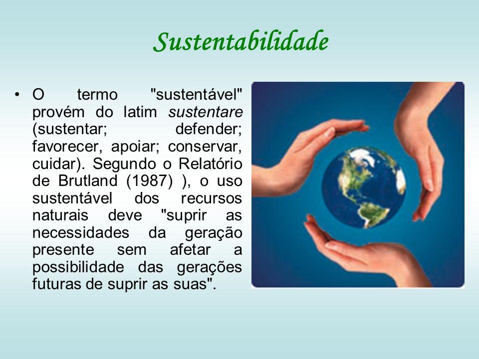 Sustentabilidade O termo