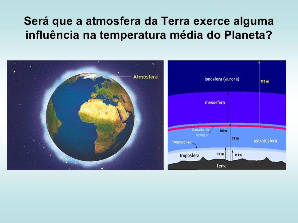 Será que a atmosfera da Terra exerce alguma influência na temperatura média do Planeta?