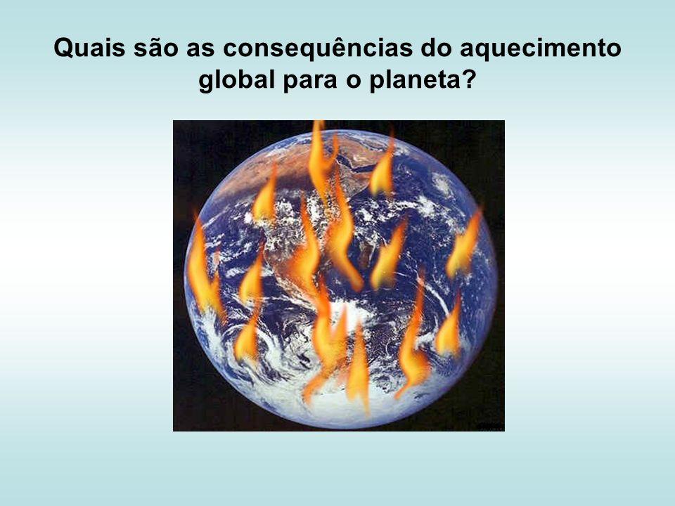 Quais são as consequências do aquecimento global para o planeta?