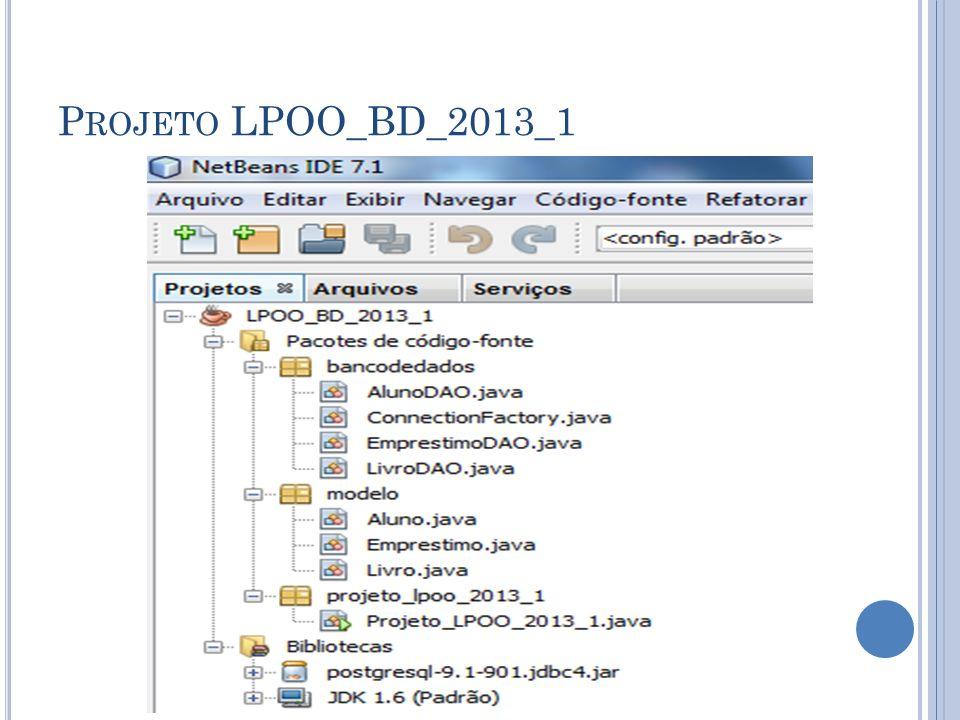 P ROJETO LPOO_BD_2013_1