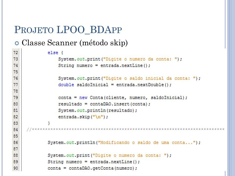 P ROJETO LPOO_BDA PP Classe Scanner (método skip)