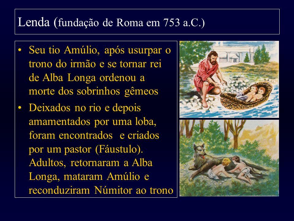 Seu tio Amúlio, após usurpar o trono do irmão e se tornar rei de Alba Longa ordenou a morte dos sobrinhos gêmeos Deixados no rio e depois amamentados