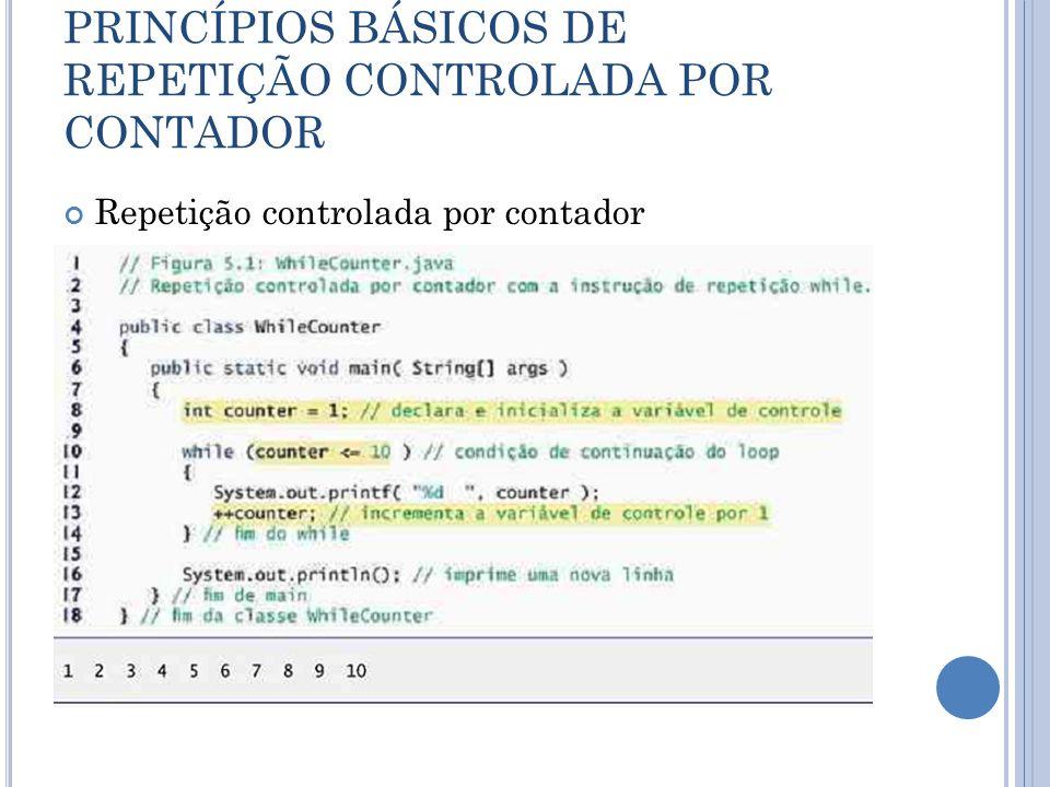 INSTRUÇÃO DE REPETIÇÃO FOR Instrução for