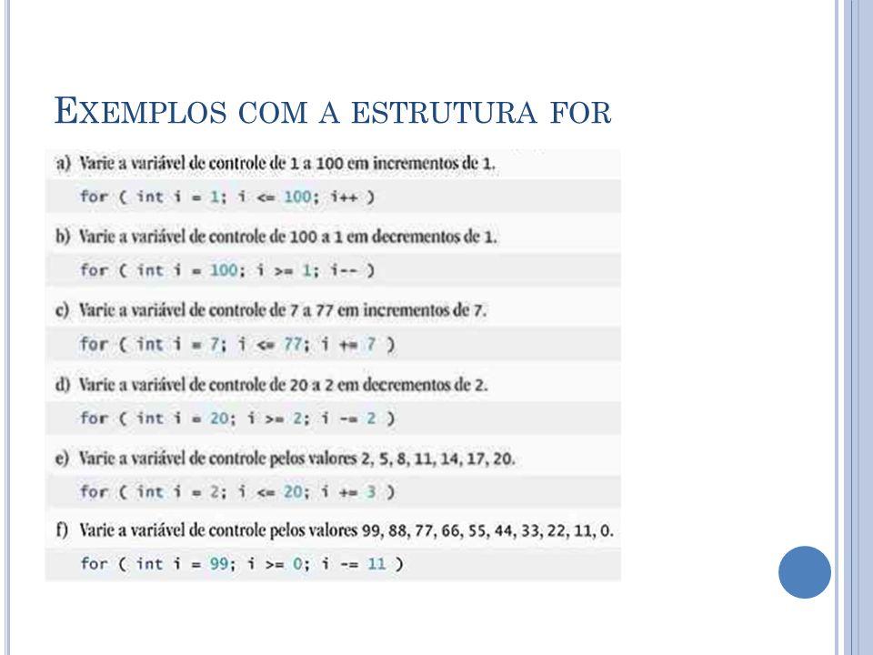 O PERADORES LÓGICOS OU exclusivo lógico booleano (^) Uma condição que contem este operador é true se e somente se um dos operandos for true e o outro false.