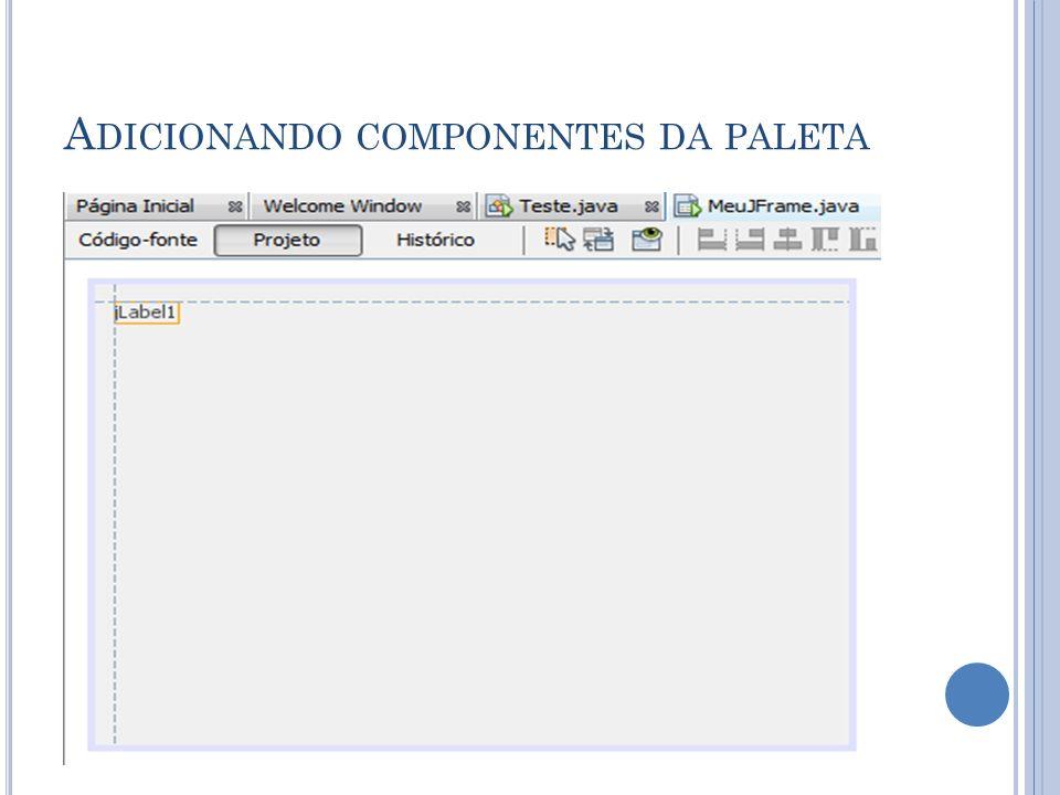 A DICIONANDO COMPONENTES DA PALETA
