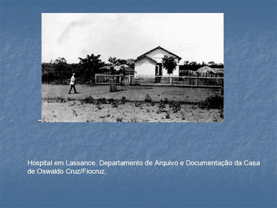 Hospital em Lassance. Departamento de Arquivo e Documentação da Casa de Oswaldo Cruz/Fiocruz.
