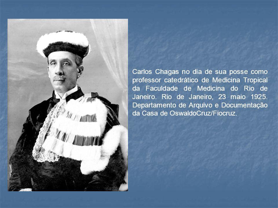 Carlos Chagas no dia de sua posse como professor catedrático de Medicina Tropical da Faculdade de Medicina do Rio de Janeiro. Rio de Janeiro, 23 maio