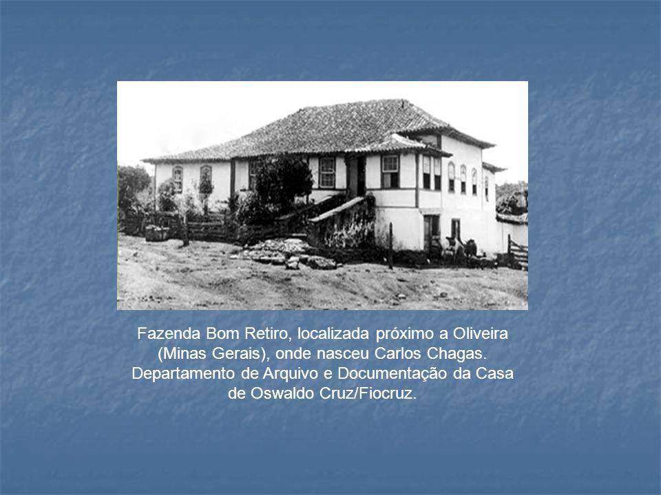 Fazenda Bom Retiro, localizada próximo a Oliveira (Minas Gerais), onde nasceu Carlos Chagas. Departamento de Arquivo e Documentação da Casa de Oswaldo