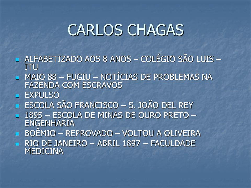 CARLOS CHAGAS ALFABETIZADO AOS 8 ANOS – COLÉGIO SÃO LUIS – ITU ALFABETIZADO AOS 8 ANOS – COLÉGIO SÃO LUIS – ITU MAIO 88 – FUGIU – NOTÍCIAS DE PROBLEMA