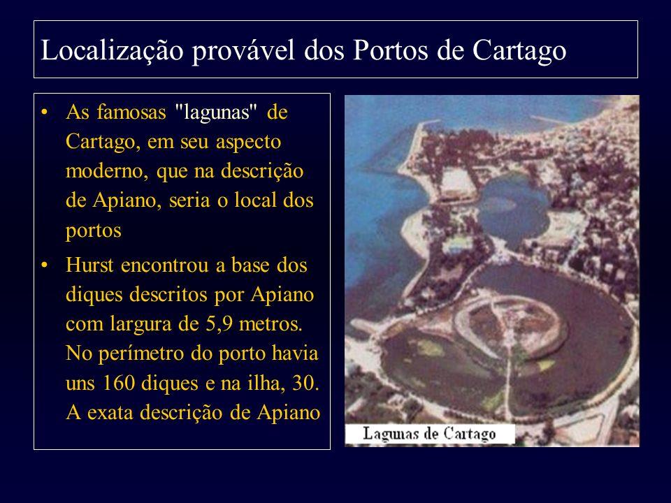 Localização provável dos Portos de Cartago As famosas