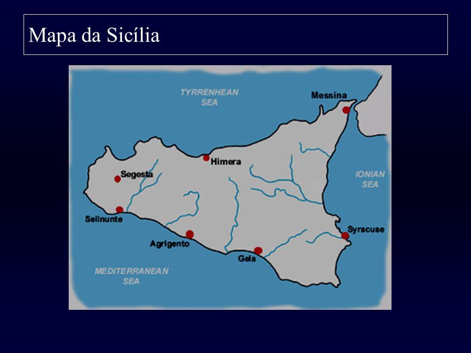 Mapa da Sicília