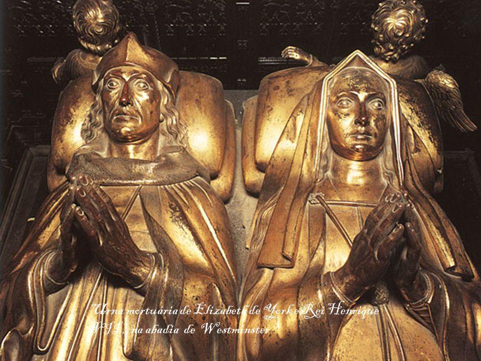 Urna mortuária de Elizabeth de York e Rei Henrique VII, na abadia de Westminster