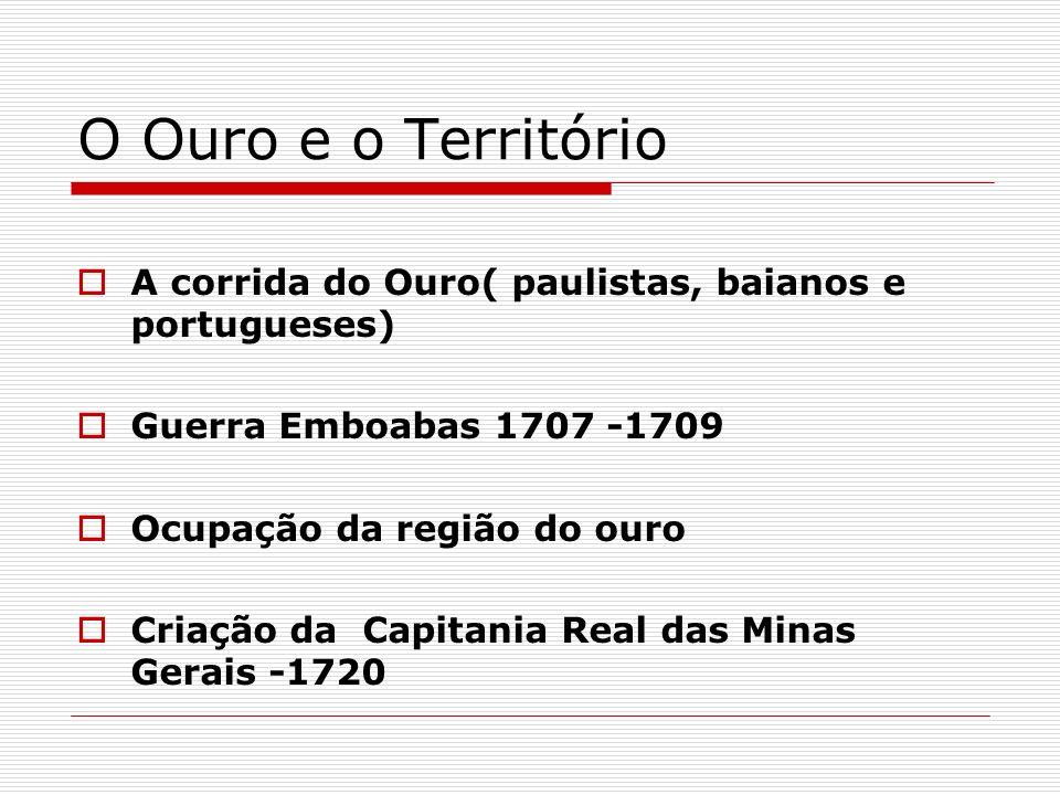 A Capitania de Minas Gerais Os arraiais mineiros tornam-se vilas Vila Rica(Ouro Preto):centro político administrativo Nobres no Brasil Sociedade Urbana em Minas Unidade da Língua Unidade de Território