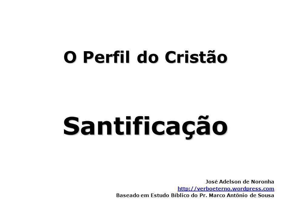 O Perfil do Cristão Santificação José Adelson de Noronha http://verboeterno.wordpress.com Baseado em Estudo Bíblico do Pr. Marco Antônio de Sousa