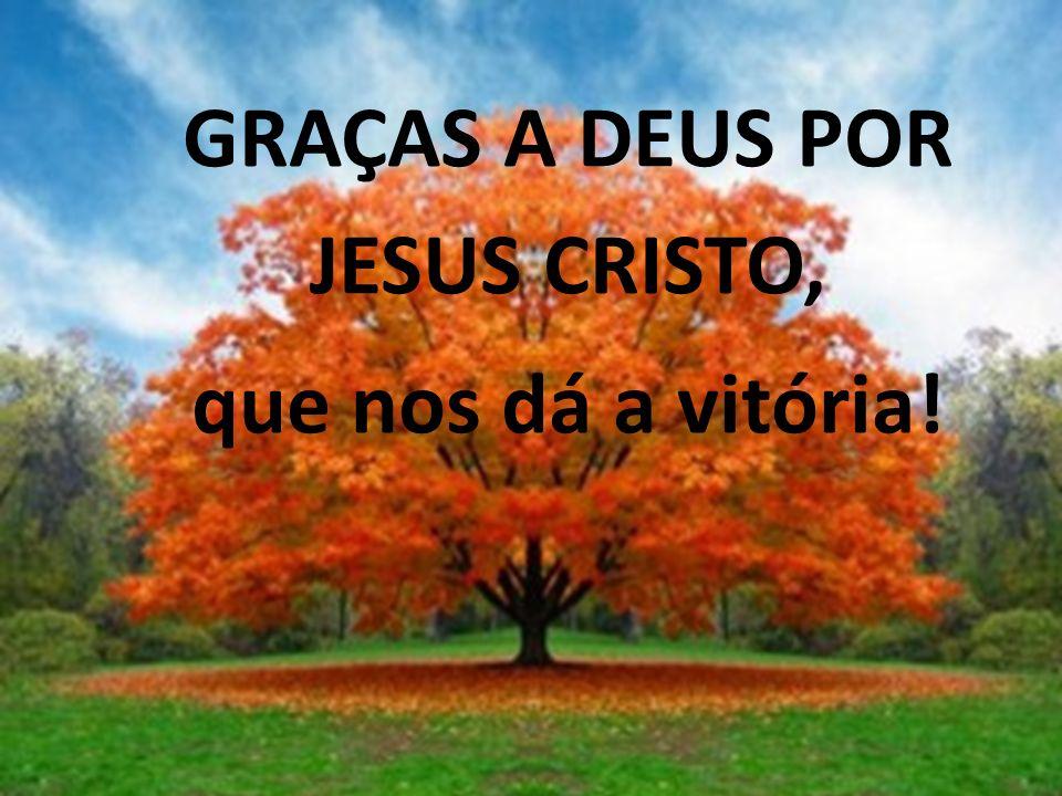 GRAÇAS A DEUS POR JESUS CRISTO, que nos dá a vitória! Download: http://verboeterno.wordpress.com