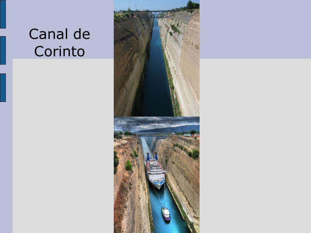 Entroncamento estratégico importante para o comércio mundial: através de um canal de 6,3 Km, evitava-se navegar por grande distância em águas perigosas A Cidade de Corinto