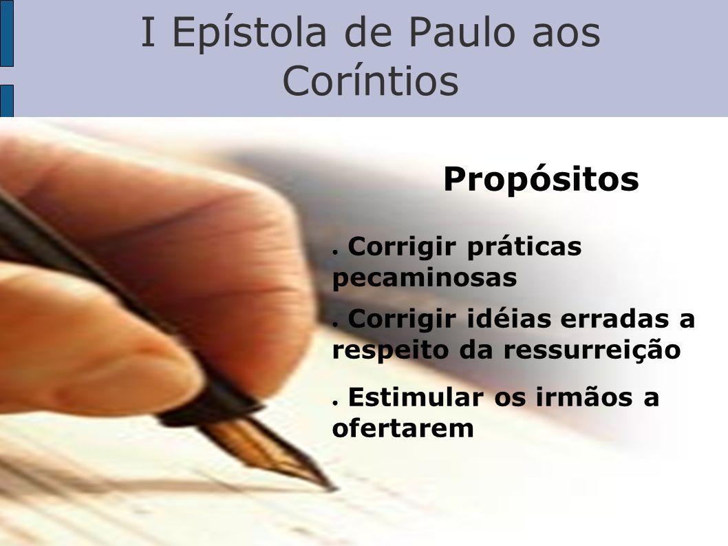 Esboço da Carta 1) Saudação e apresentação (1:1-9) 2) Problema de divisões (1:10-4:21) 3) Problema de imoralidade (5:1-13) 4) Problema de litígio nos tribunais (6:1-11) 5) Problema de prostituição (6:12-20)