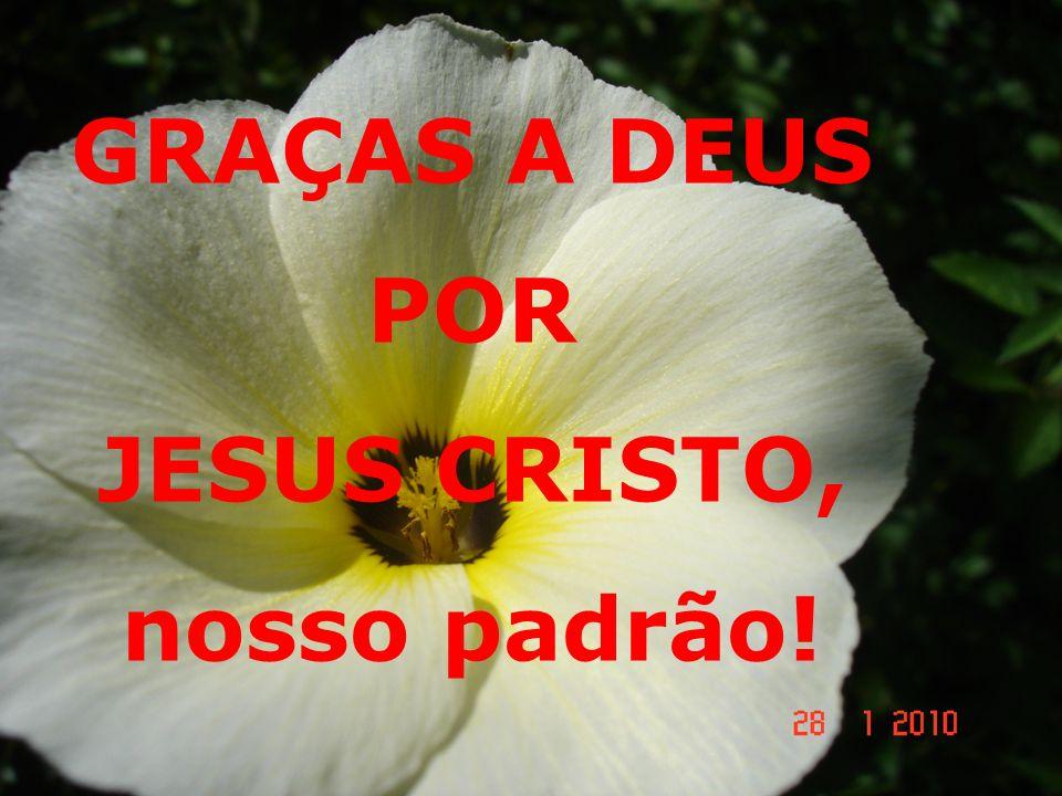GRAÇAS A DEUS POR JESUS CRISTO! GRAÇAS A DEUS POR JESUS CRISTO, nosso padrão!