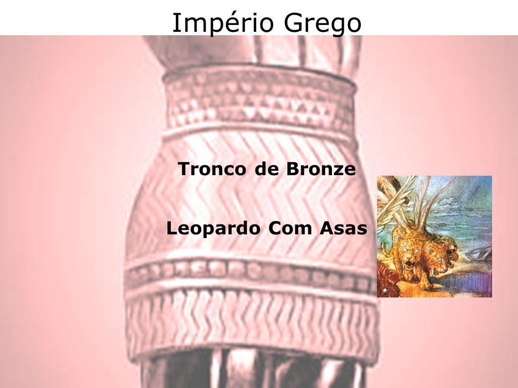 Império Grego Tronco de Bronze Leopardo Com Asas