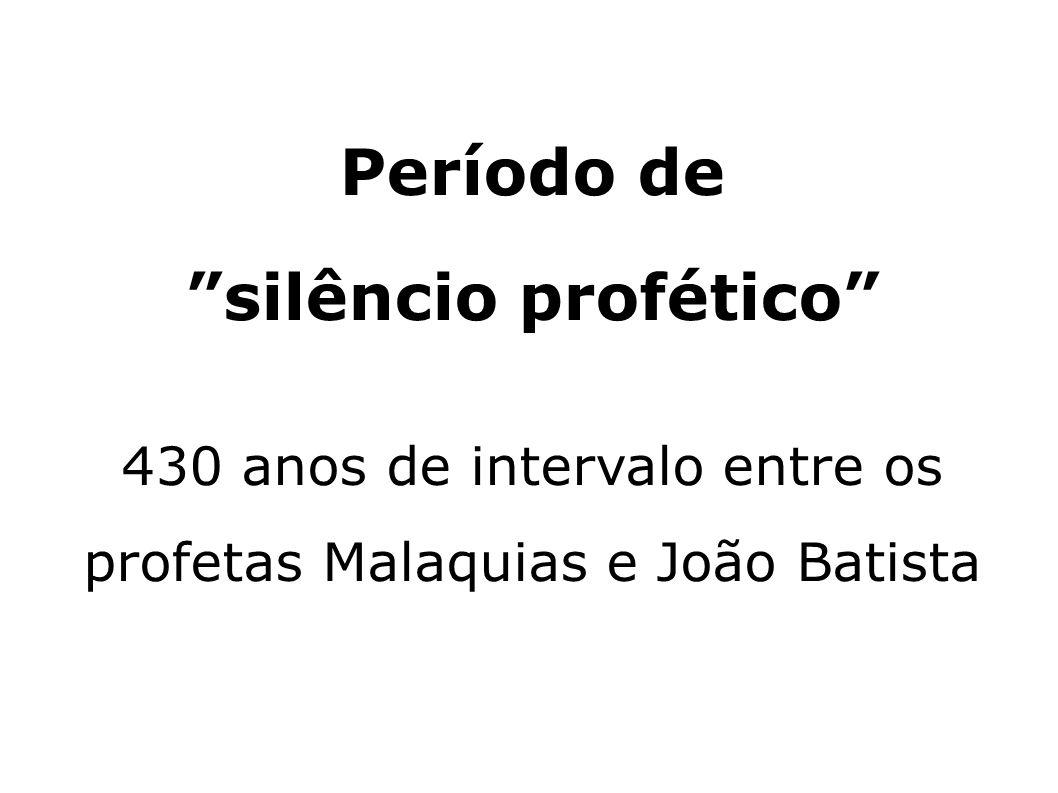Período de silêncio profético 430 anos de intervalo entre os profetas Malaquias e João Batista