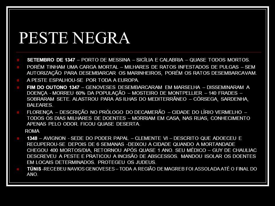 PESTE NEGRA BARCELONA – CATALUNHA, ARAGÃO E DISSEMINAÇÃO PARA CASTELA CHEGANDO A PORTUGAL – OUTONO DE 1348 – UM TERÇO A METADE DA POPULAÇÃO.