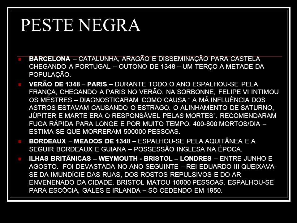 PESTE NEGRA 1349 – ESTENDEU-SE AO MAR DO NORTE – BERGEN - NORUEGA.